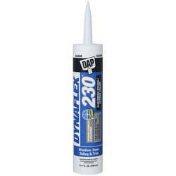 DAP  Dynaflex 230  Clear  Elastomeric  Door, Trim and Window  Sealant  10.1 oz.