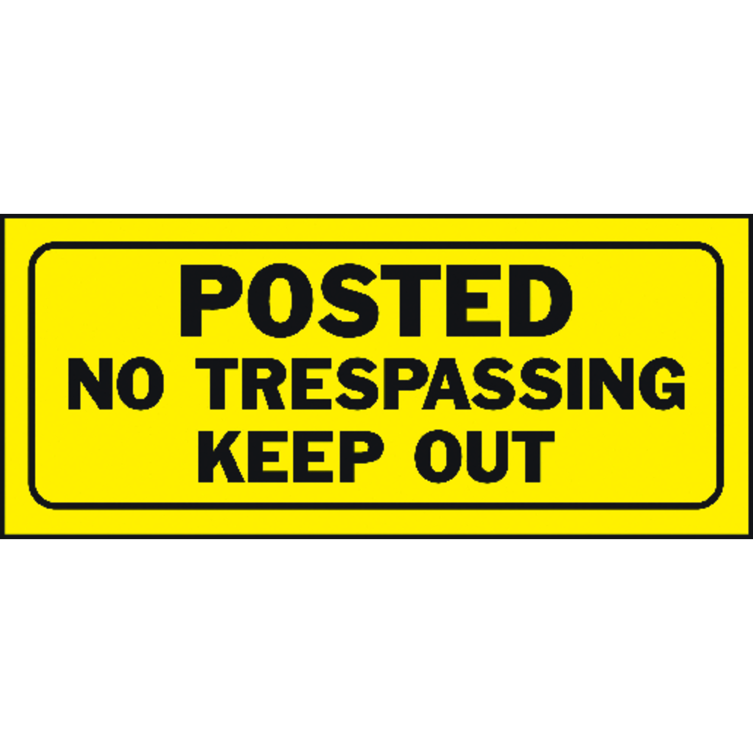 Hy-Ko  English  Posted No Trespassing Keep Out  6 in. H x 14 in. W Plastic  Sign