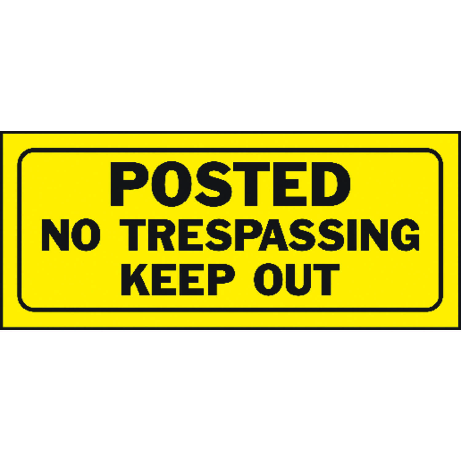 Hy-Ko  English  Posted No Trespassing Keep Out  Sign  Plastic  6 in. H x 14 in. W