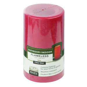 Paradise Garden  Red  Candle  5 in. H x 3 in. Dia.