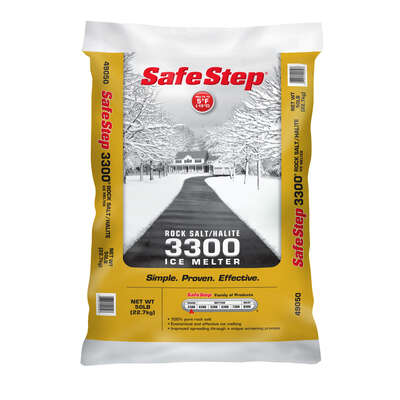 Safe Step  3300  Sodium Chloride  Ice Melt  50 lb. Crystal