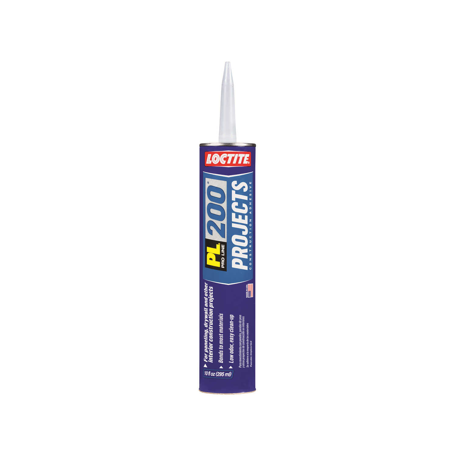 Loctite  PL 200 Projects  Synthetic Elastomeric Polymer  Construction Adhesive  10 oz.