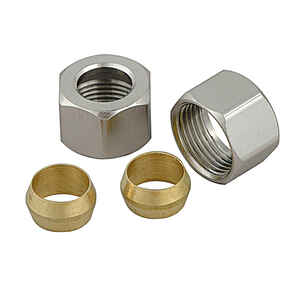 BrassCraft  3/8 in. Brass  Compression Nuts & Sleeves