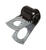 Jandorf  3/16 in. Dia. Steel  Clamp  2 pk