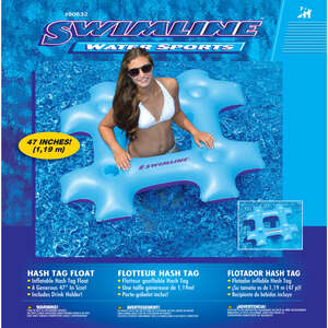 Swimline  Blue  Blue  Inflatable Pool Float  Vinyl