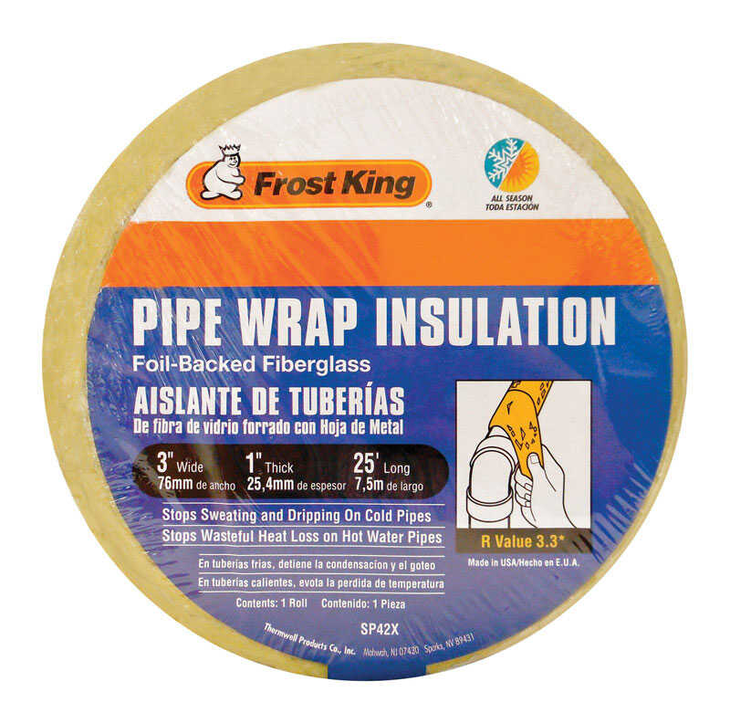 Frost King  3 in. Pipe Insulation  25 ft. L