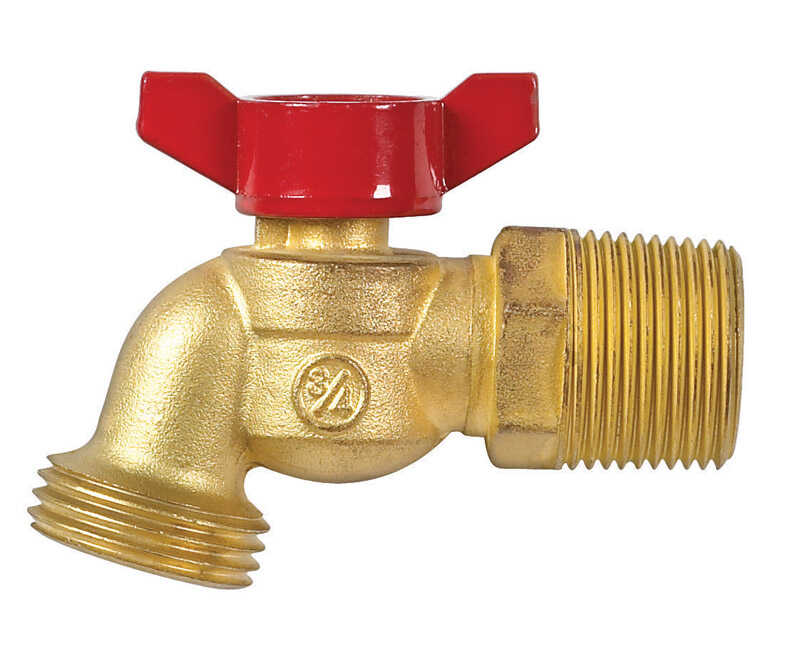 B & K  Mueller  3/4 in. MIP  Dia. 3/4 in. MHT  Brass  3.1 in. Hose Bibb