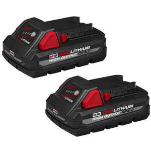 Milwaukee  M18 REDLITHIUM  CP3.0  18 volt 3 Ah Lithium-Ion  High Output  Battery Pack  2 pc.