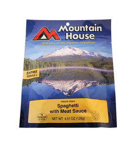 Mountain House  Spaghetti with Meat Sauce  Freeze Dried Food  4.51 oz. Pouch