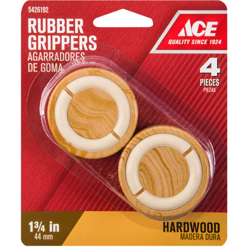 Ace  Rubber  Non-Slip Cup for Hardwood Floors  Brown  Round  1-3/4 in. W 4 pk