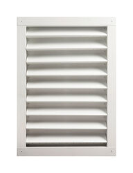 Master Flow  18 in. W x 24 in. L White  Aluminum  Wall Louver