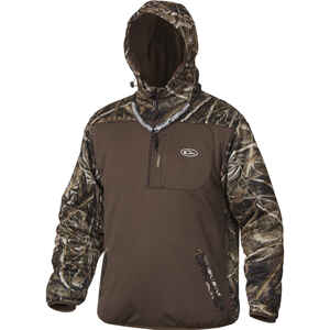 Drake  MST Endurance  L  Long Sleeve  Men's  Quarter Zip  Hooded Jacket  Realtree Max-5