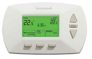 Honeywell  Heating and Cooling  Push Buttons  Programmable Thermostat