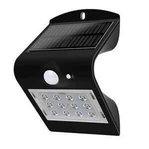 Luceco  Black  Motion-Sensing  LED  Solar Motion Sensing Wall Light