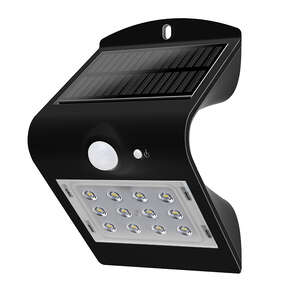 Luceco  Guardian  Black  White  LED  Solar Motion Sensing Wall Light