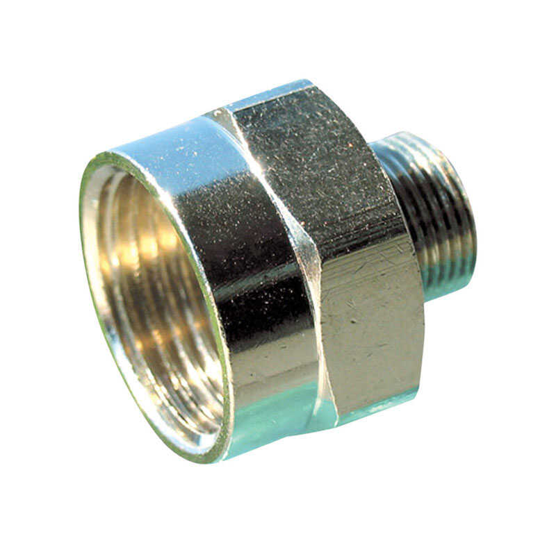 JMF  3/8 in. Male   x 1/2 in. Dia. MIP  Brass  Compression Adapter