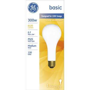 Ge 300 Watts Ps25 Chandelier Incandescent Bulb E26 Medium Cool