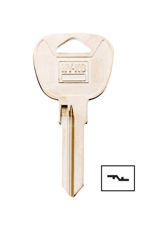 Hy-Ko  Automotive  Key Blank  EZ# BMW3  Single sided For Fits Most BMW Locks