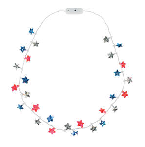 DM Merchandising  Patriotic Pride  Star  Flashing Necklace  1 pk