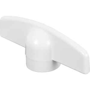 Prime-Line  Painted  White  Zinc  Single-Arm Casement  Tee-Crank Handle  For Truth