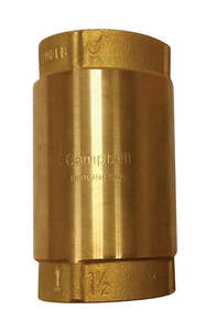Campbell  1 1/2 in. 1-1/2 in.  Yellow Brass  Spring  Check Valve