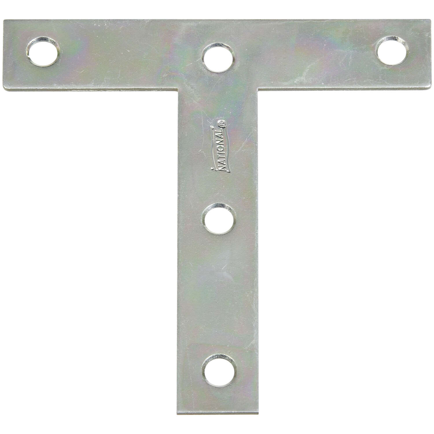 National Hardware 4 in. H x 4 in. W x 0.07 in. D Zinc-Plated Steel Tee Plate