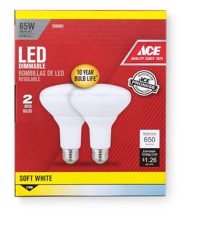 Ace Br30 E26 Medium Led Bulb Soft White 65 Watt
