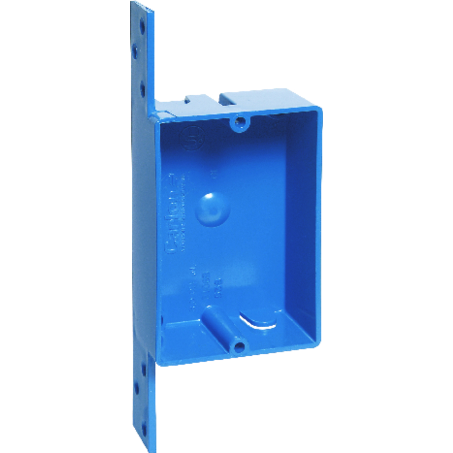 Carlon  3-5/8 in. Rectangle  1 Gang  PVC  Blue  Outlet Box