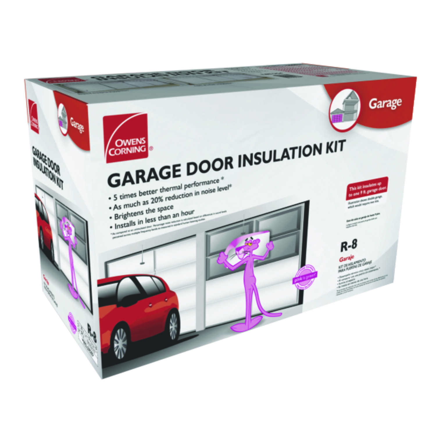 Owens Corning  22 in. W x 54 in. L R-8  Faced  Garage Door Insulation Kit  Roll  65-3/4 sq. ft.