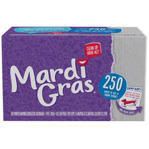 Mardi Gras  Dinner Napkins  1 ply 250 sheet