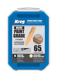 Kreg  Micro  Round  Wood  Pocket-Hole Plug  .375 in. Dia. x 1.875 in. L 65 pk