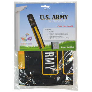 In the Breeze  US Army  Windsock  40 in. H x 6 in. W