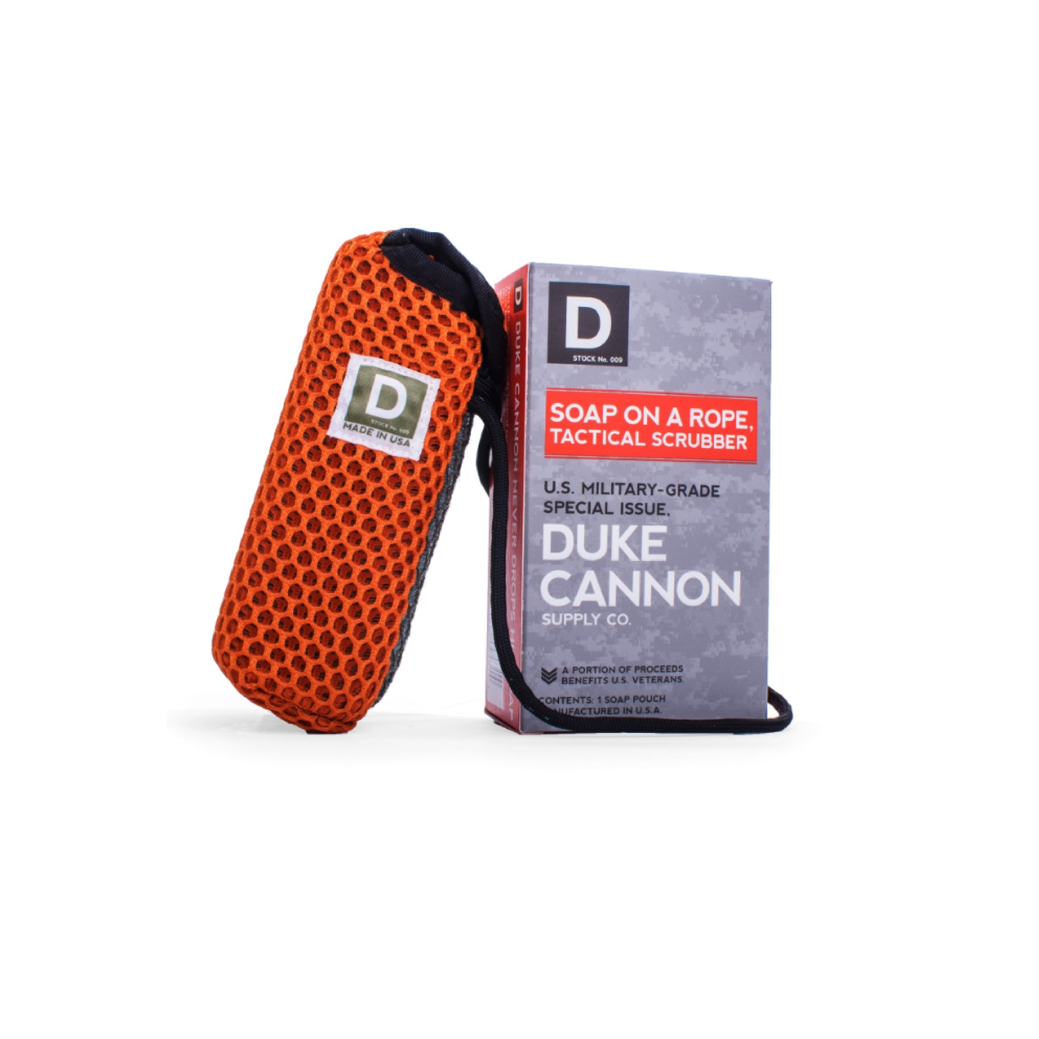 Duke Cannon  Victory Scent Soap on a Rope Tactical Scrubber  10 oz.