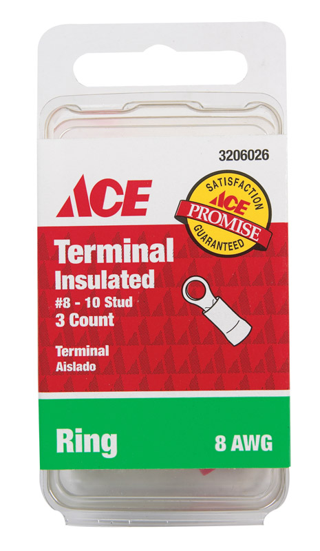 Ace  Ring Terminal  3  8 AWG