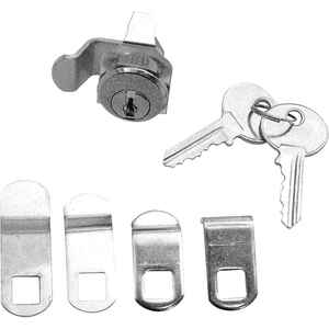 Prime-Line  Nickel  Steel  Mailbox Lock