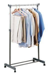 Whitmor 18 1/4 in. W x 66 in. H x 33 in. L Adjustable Garment Rack
