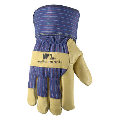 Wells Lamont  Men's  Outdoor  Leather  Work  Gloves  Palomino  M  1 pair