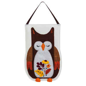 Evergreen  Owl  Fall Decoration  20.75 in. H x 13.75 in. W 1 pk