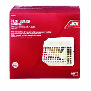 Ace  4 in. W x 7 in. L White  Plastic  Pest Guard