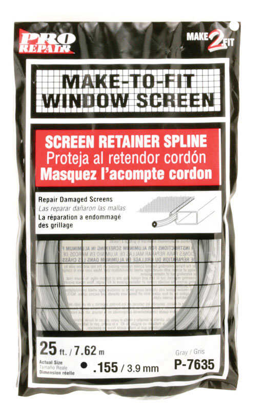Prime-Line  0.16 in. Dia. x 25 in. L Screen Spline