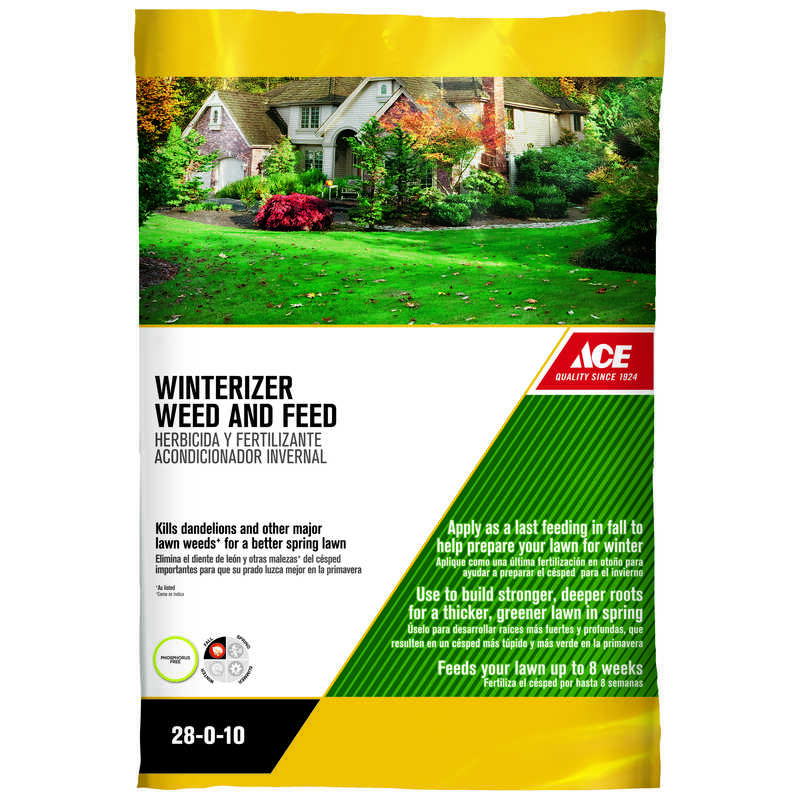 Ace  28-0-10  Winterizer Weed And Feed  For Mixed 14.6 lb. 5000 sq. ft.