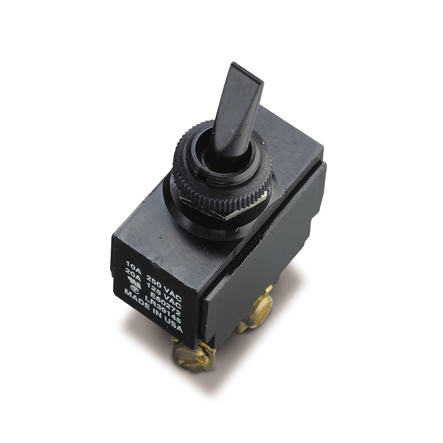 Gardner Bender  Toggle  Switch  Black  1 pk