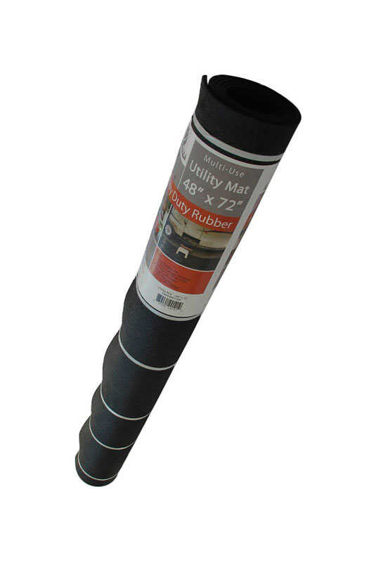 Flexgard Black Rubber Nonslip Crumb Rubber Floor Mat 72 In