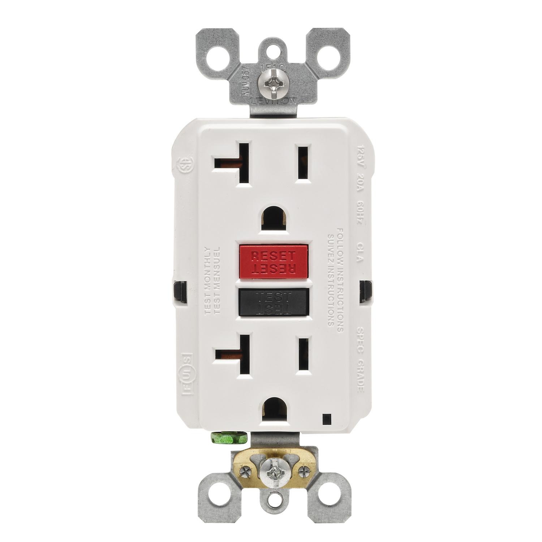 Leviton 20 Amps 125 Volt White Gfci Outlet 5-20r 1 Pk
