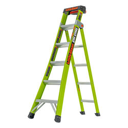 Little Giant  King Kombo  10 ft. H x 25 in. W Fiberglass  Extension Ladder  Type 1AA  375 lb. capaci