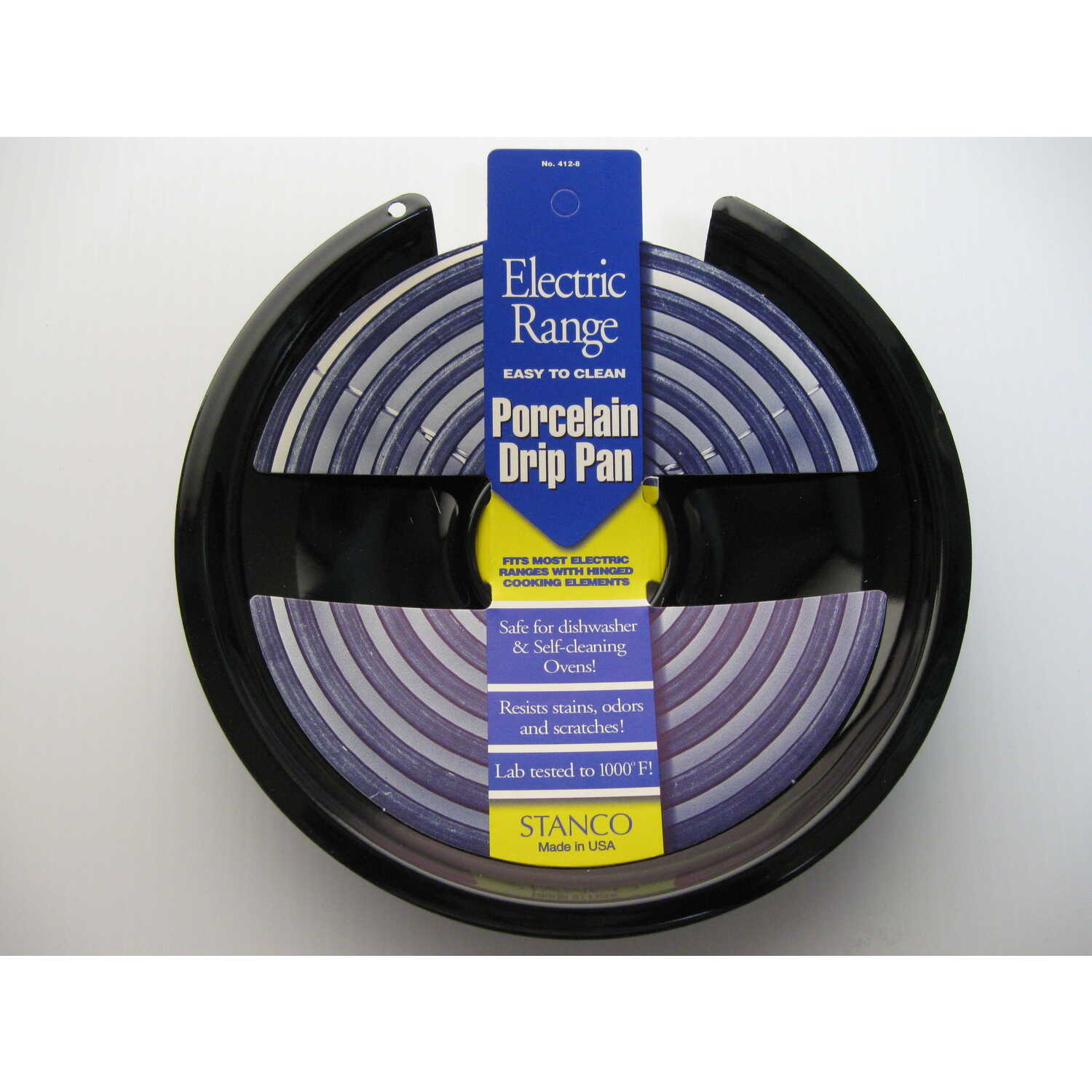 Stanco  Porcelain  Drip Pan  8 in. W