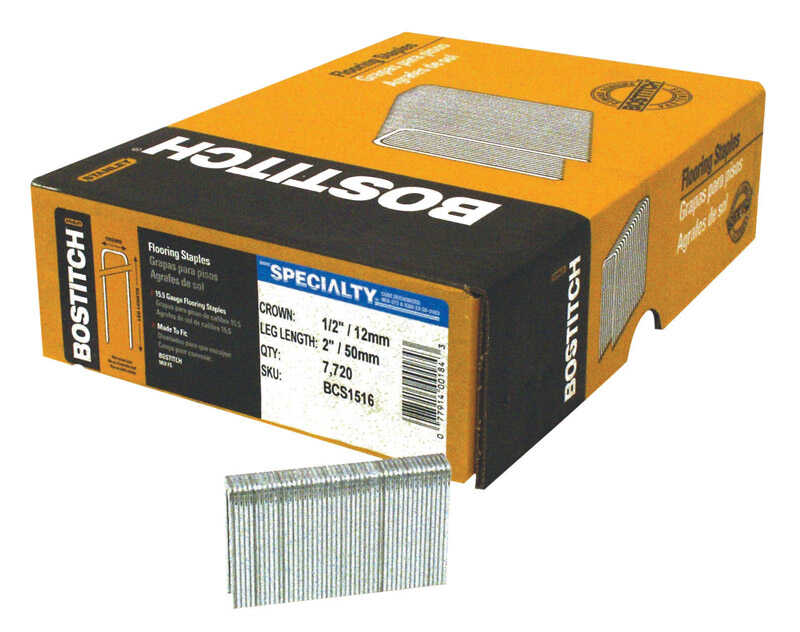 Stanley Bostitch  2 in. L x 1/2 in. W Steel  Flooring Staples  15-1/2 Ga. 500  Medium Crown