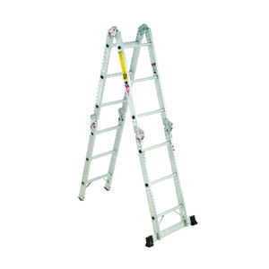 Werner  16 ft. H x 15 in. W Aluminum  Articulating Ladder  300 lb. Type IA