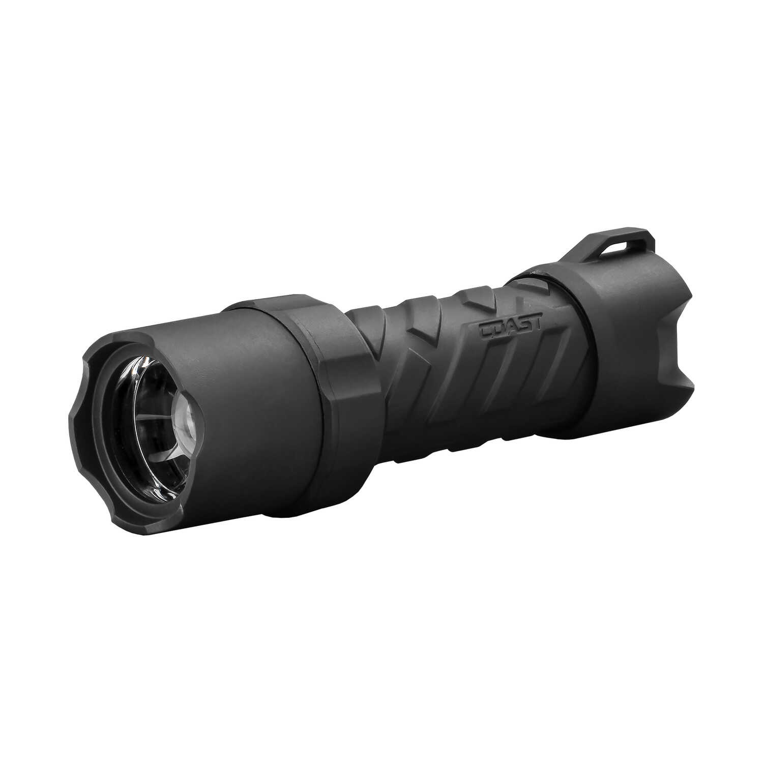 Coast  Polysteel 400  300 lumens Black  LED  Flashlight  AAA