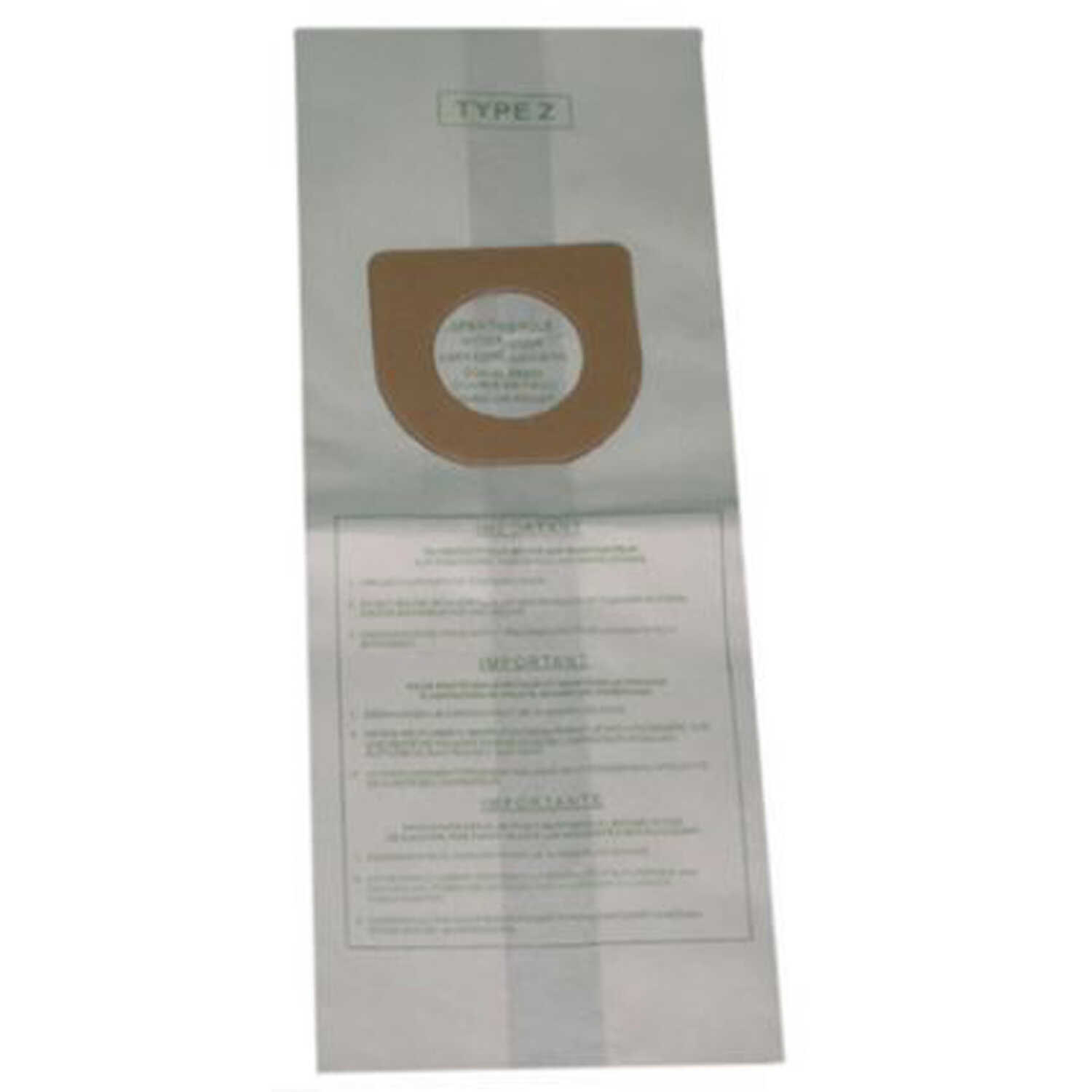 Hoover  Vacuum Bag  For Fits Hoover upright cleaners including the power drive. 3 pk